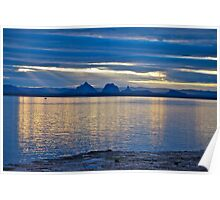 Sunset reflections - Glasshouse Mountains Poster