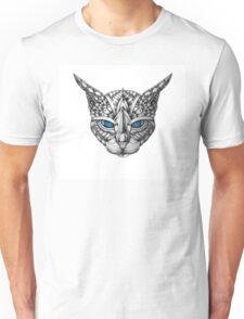 Ornate Blue Eyes Cat Unisex T-Shirt