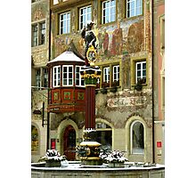 Historic Fountain in Stein am Rhein Photographic Print