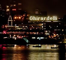 night view ghirardelli by Sebastian Warnes