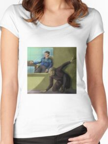 Hannibal - Lurking around Will's house Women's Fitted Scoop T-Shirt