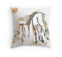 Peaceful - Day in the Pasture Throw Pillow