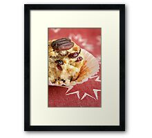 Cranberry orange pecan muffins Framed Print