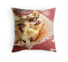 Cranberry orange pecan muffins Throw Pillow