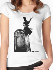 Piaggio Vespa GS front shield with logo black Women's Fitted Scoop T-Shirt
