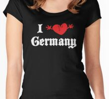 I Love Germany Women's Fitted Scoop T-Shirt