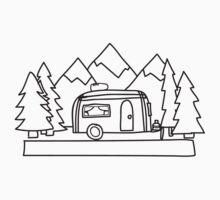 Airstream campers Kids Tee