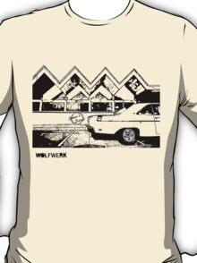 Australian muscle car 1970 Valiant Hemi Pacer Hardtop outside Dino's Diner Sydney take away restaurant 2black T-Shirt