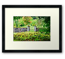 Leith Hall Gardens (Huntly, Aberdeenshire, Scotland) Framed Print