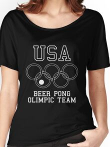 USA Beer Pong Olimpic Team Women's Relaxed Fit T-Shirt