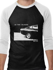 Valiant Charger Australian Muscle Car rear view  GO THE CHARGER white Men's Baseball ¾ T-Shirt