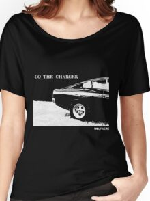 Valiant Charger Australian Muscle Car rear view  GO THE CHARGER white Women's Relaxed Fit T-Shirt