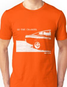 Valiant Charger Australian Muscle Car rear view  GO THE CHARGER white Unisex T-Shirt