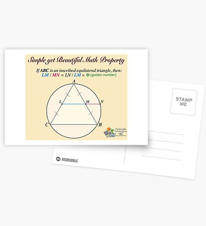 Golden Geometry Postcards