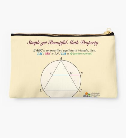Golden Geometry Studio Pouch