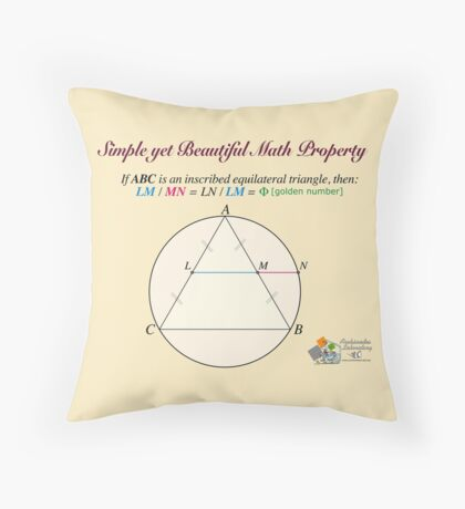 Golden Geometry Throw Pillow