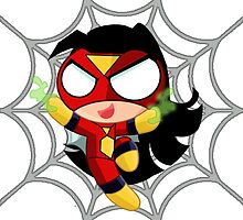 SPIDERWOMAN-puff by Michael McElroy
