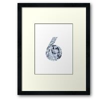 Number 6 - Blue Version. Framed Print