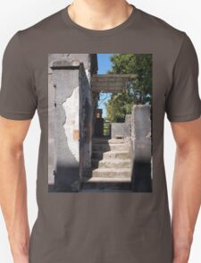 Porch of the old building with crumbling plaster Unisex T-Shirt