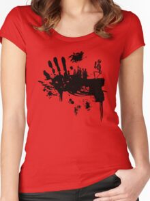 Bloody Guns! Women's Fitted Scoop T-Shirt