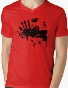Bloody Guns! Mens V-Neck T-Shirt