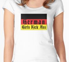German Girls Kick Ass Women's Fitted Scoop T-Shirt