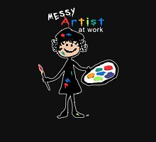 Messy Artist At Work (for dark clothing) Long Sleeve T-Shirt