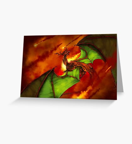 Dragon Rage Greeting Card