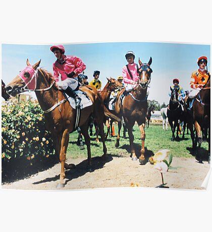 Race end - Flemington racecourse Poster