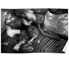 Philippinian children group portrait Poster