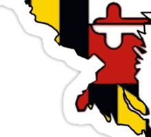Maryland flag state outline  Sticker