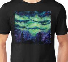 Aurora Borealis Watercolour Painting Unisex T-Shirt