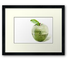 The mystery of an apple Framed Print