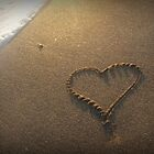 heart in the sand by piwaki