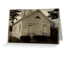 Wylie One Room Schoolhouse, Voluntown, CT Greeting Card