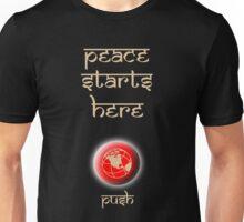 Peace Button Shirt #2 Unisex T-Shirt