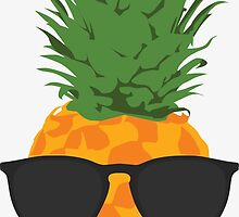 Cool Pineapple With Sunglasses by SimpleComplex