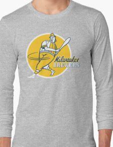 Retro Vintage Milwaukee Brewers Long Sleeve T-Shirt