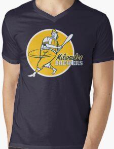 Retro Vintage Milwaukee Brewers Mens V-Neck T-Shirt