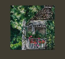 Cabin Landscape with Flowers: Watercolour Painting Unisex T-Shirt