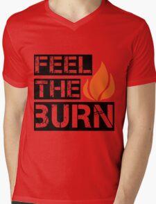 Feel The Burn Mens V-Neck T-Shirt