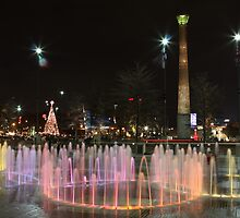 Atlanta Olympic fountains at Christmas by John Banks