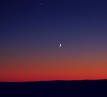 Twilight Waxing Crescent Zone by Debra Fedchin