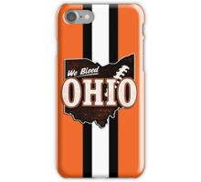 We Bleed Orange and Brown iPhone Case/Skin