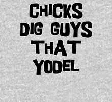 """German """"Chicks Dig Guys Who Yodel"""" Women's Fitted Scoop T-Shirt"""