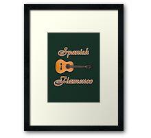 Spanish Flamenco Guitar Framed Print