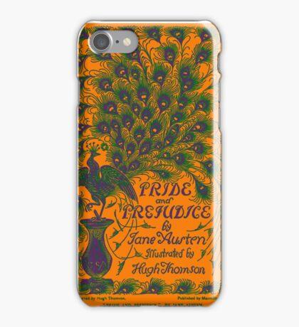 Pride and Prejudice Jane Austen Peacock cover Orange  iPhone Case/Skin