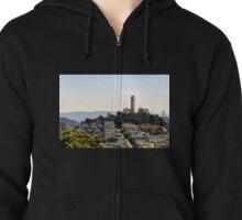 Coit Tower, San Francisco, California, USA Zipped Hoodie