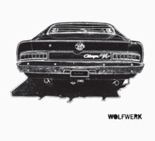 Australian muscle car R/T Valiant Charger back side black by wolfwerk