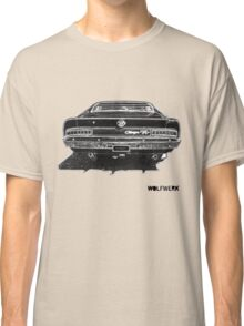 Australian muscle car R/T Valiant Charger back side black Classic T-Shirt